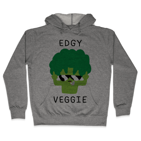Edgy Veggie Hooded Sweatshirt
