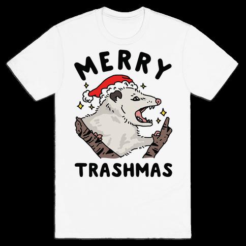 Merry Trashmas Opossum Mens T-Shirt