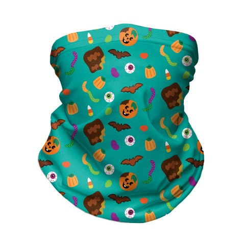 Halloween Treats Pattern Neck Gaiter