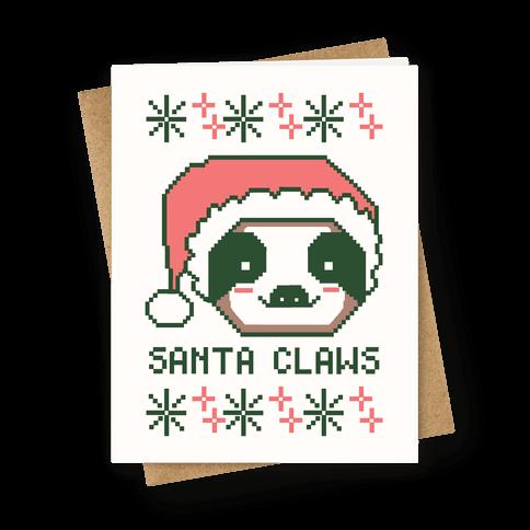 Santa Claws - Sloth Greeting Card