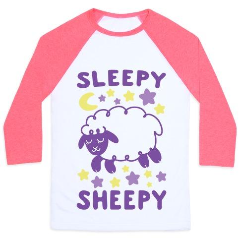 Sleepy Sheepy Baseball Tee
