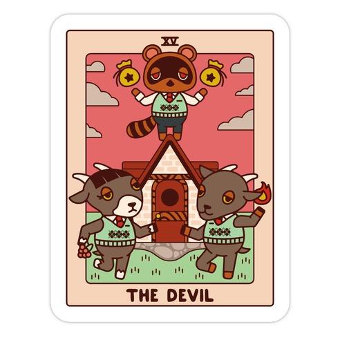 The Devil Tom Nook Die Cut Sticker