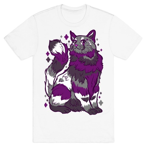 Asexual Pride Cat T-Shirt