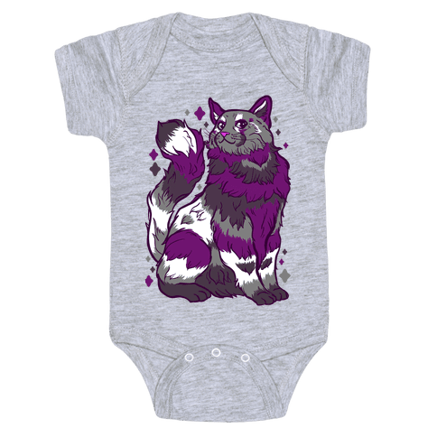 Asexual Pride Cat Baby One-Piece