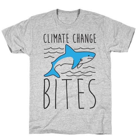 Climate Change Bites Shark T-Shirt