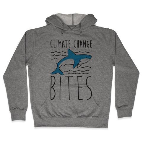Climate Change Bites Shark Hooded Sweatshirt