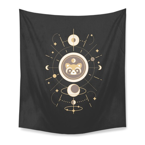 Raccoon Moon Tapestry