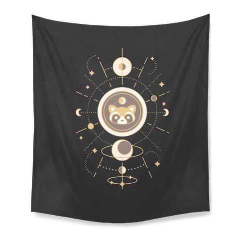 Raccoon Moon Tapestry