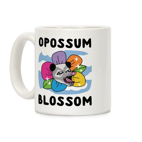 Opossum Blossom Coffee Mug