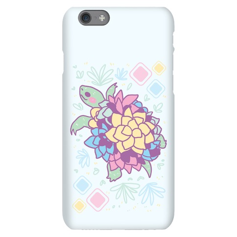 Pastel Succulent Turtle Phone Case