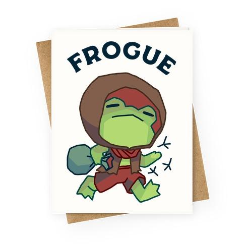Frogue Greeting Card