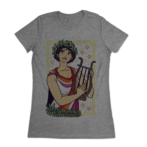 Sappho, Our Lady of Lesbians Womens T-Shirt