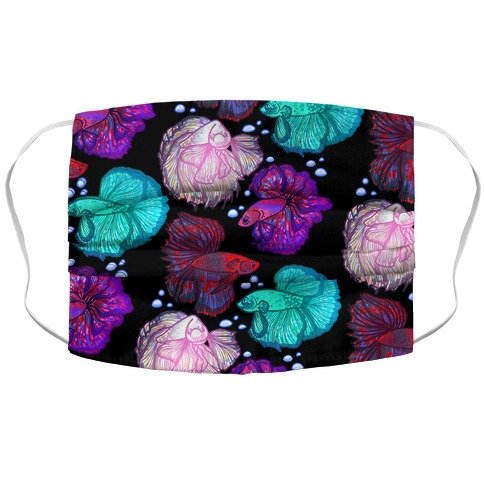 Beta Fish Pattern Accordion Face Mask
