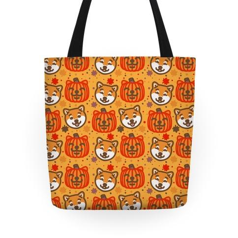 Shiba Inu Pumpkins Tote