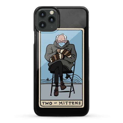 Two of Mittens (Bernie Tarot Parody) Phone Case