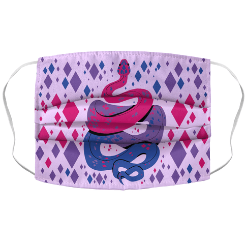Pride Snakes: bi Face Mask Cover
