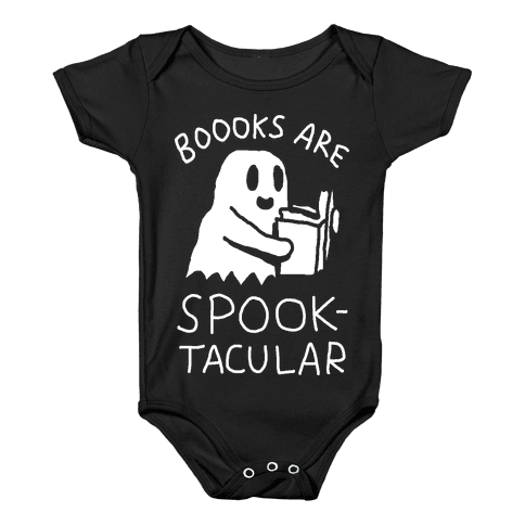 Boooks Are Spooktacular Ghost Baby Onesy