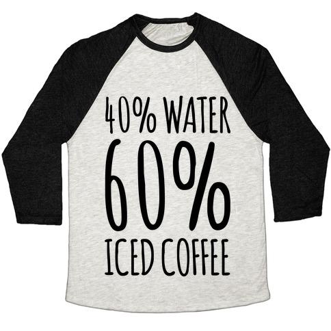 40 Percent Water 60 Percent Iced Coffee