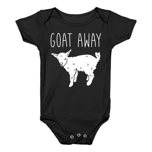 Goat Away Baby Onesy