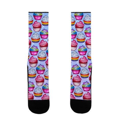 LGBTQ+ Cupcakes Pattern Sock