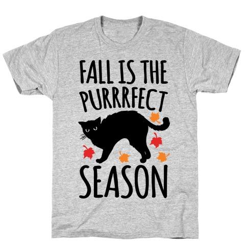 Fall Is The Purrrfect Season Cat Parody T-Shirt
