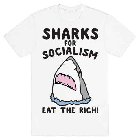 Sharks For Socialism Parody Mens T-Shirt