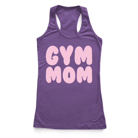 Gym Mom White Print