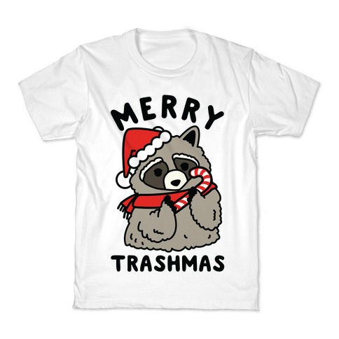 Merry Trashmas Raccoon Kids T-Shirt