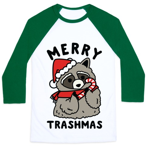 Merry Trashmas Raccoon Baseball Tee