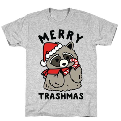 Merry Trashmas Raccoon T-Shirt