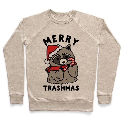 Merry Trashmas Raccoon Pullover