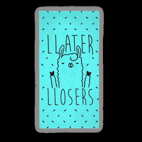 Llater Llosers Llama Beach Towel