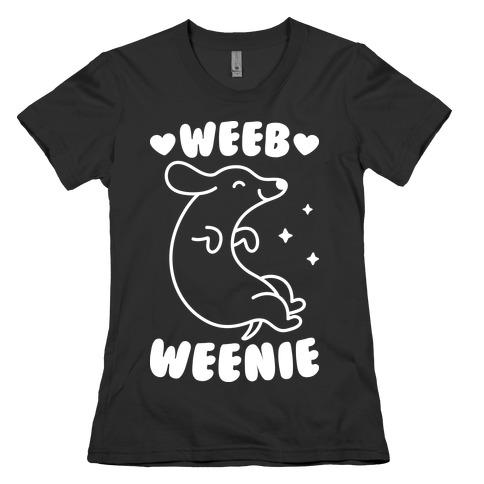 Weeb Weenie Dachshund Womens T-Shirt