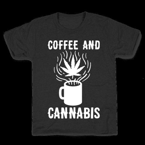 Coffee And Cannabis Kids T-Shirt