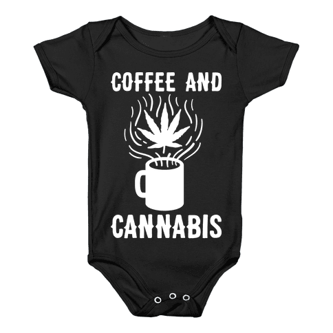 Coffee And Cannabis Baby Onesy