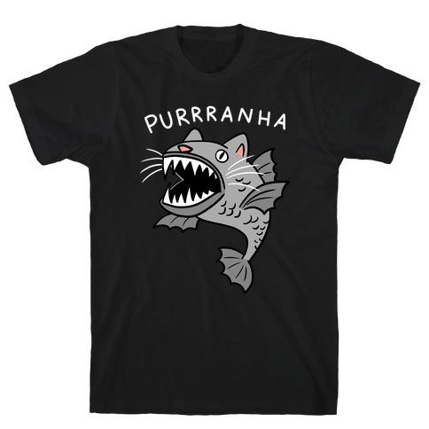 Purrranha Cat Piranha T-Shirt