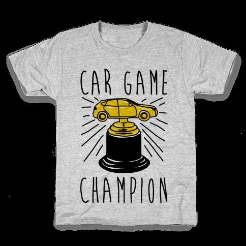 Car Game Champion  Kids T-Shirt