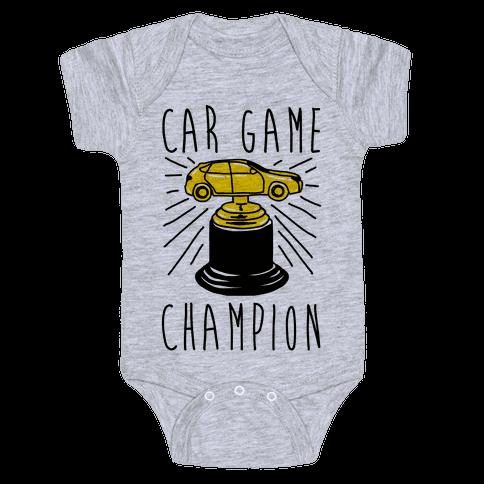 Car Game Champion  Baby Onesy