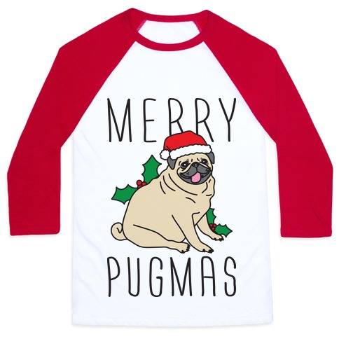 Merry Pugmas Baseball Tee