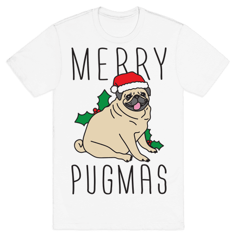 Merry Pugmas Mens T-Shirt