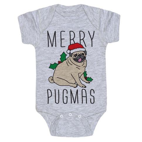 Merry Pugmas Baby Onesy
