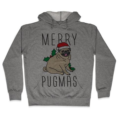 Merry Pugmas Hooded Sweatshirt