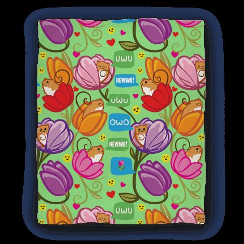 Harvest Mice Emoji Floral Pattern Blanket