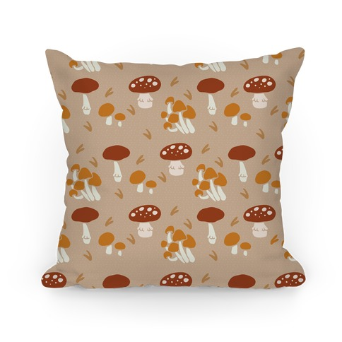Forest Mushroom Boho Pattern Pillow