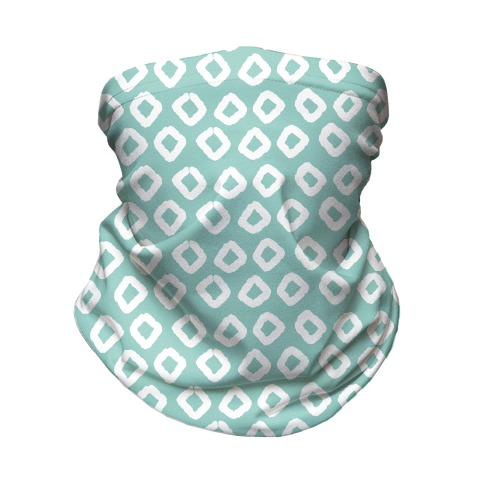 Abstract Diamond Biscay Green Boho Pattern Neck Gaiter