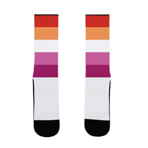 Lesbian Pride Flag Sock