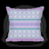 Sweater Pattern Print Blue