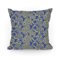 Yellow and TARDIS Blue Gallifreyan Writing Pattern