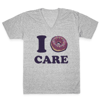 I Donut Care Vneck