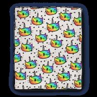 Caticorn Pattern Blanket Blanket
